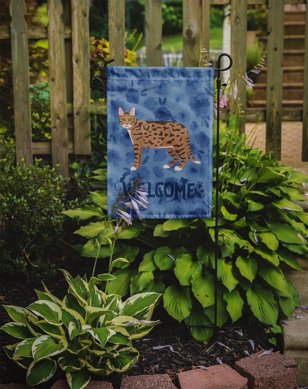 California Spangled #2 Cat Welcome Flag Garden Size CK4845GF by Caroline's Treasures