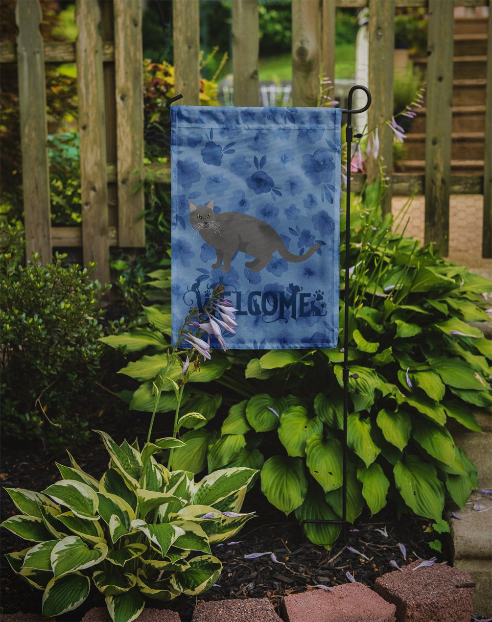 Chartreux #1 Cat Welcome Flag Garden Size CK4848GF by Caroline's Treasures