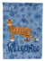 Cheetoh #1 Cat Welcome Flag Garden Size CK4852GF by Caroline's Treasures