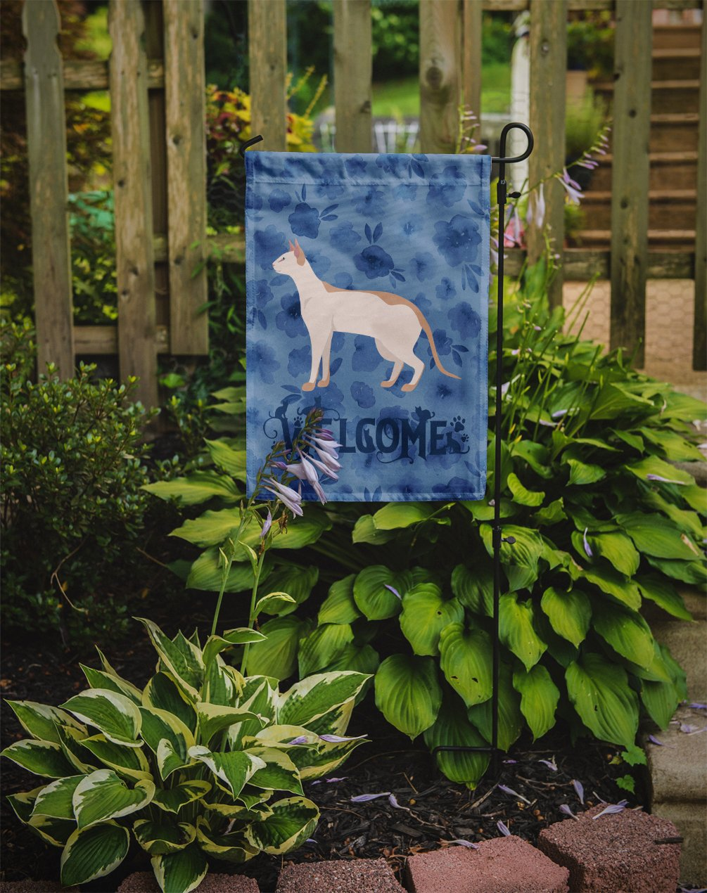 Colorpoint Shorthair #3 Cat Welcome Flag Garden Size CK4862GF by Caroline's Treasures
