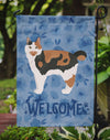 Cymric #2 Cat Welcome Flag Garden Size CK4866GF by Caroline's Treasures