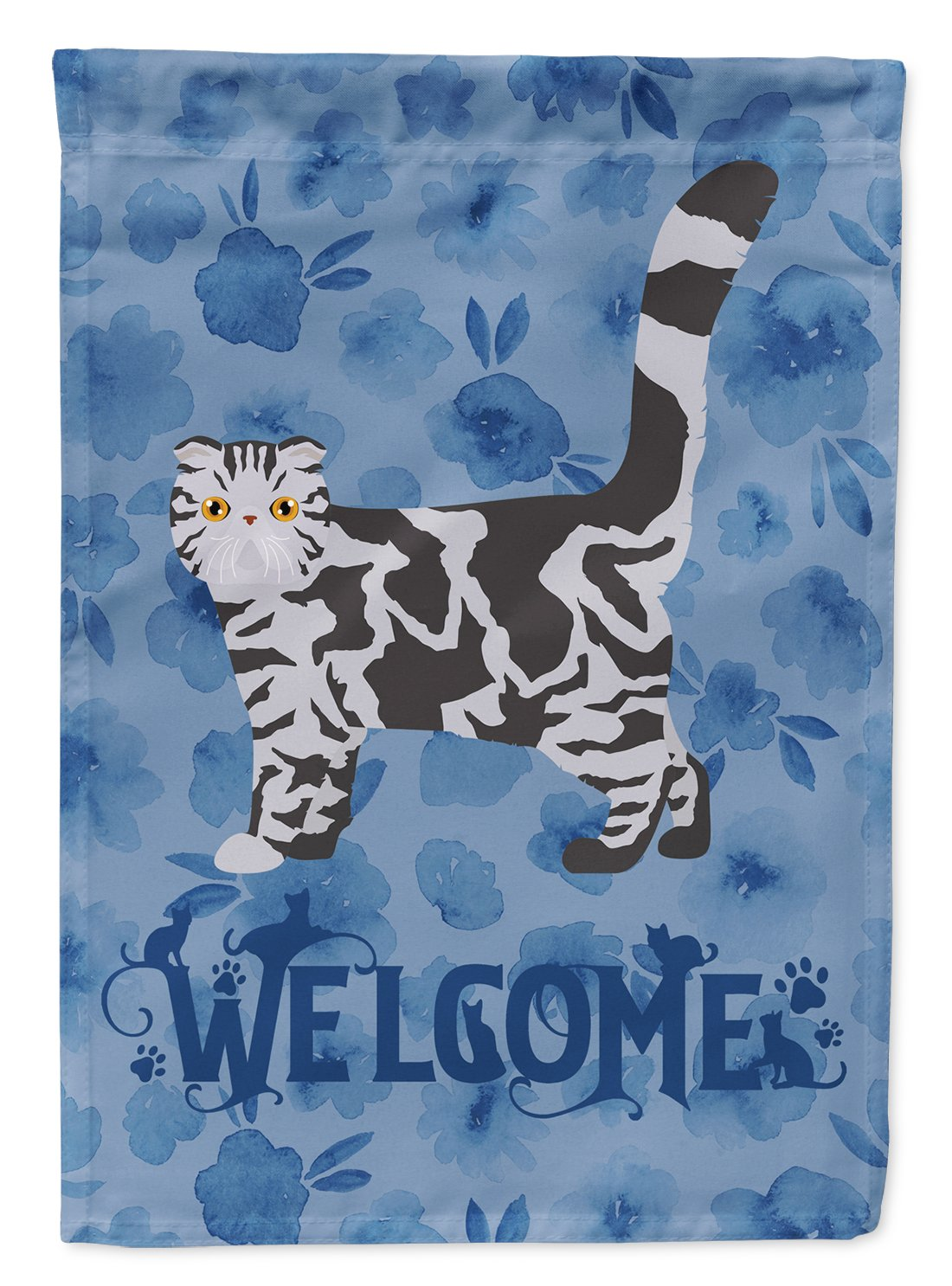 Foldex Exotic Fold #1 Cat Welcome Flag Garden Size CK4890GF by Caroline's Treasures