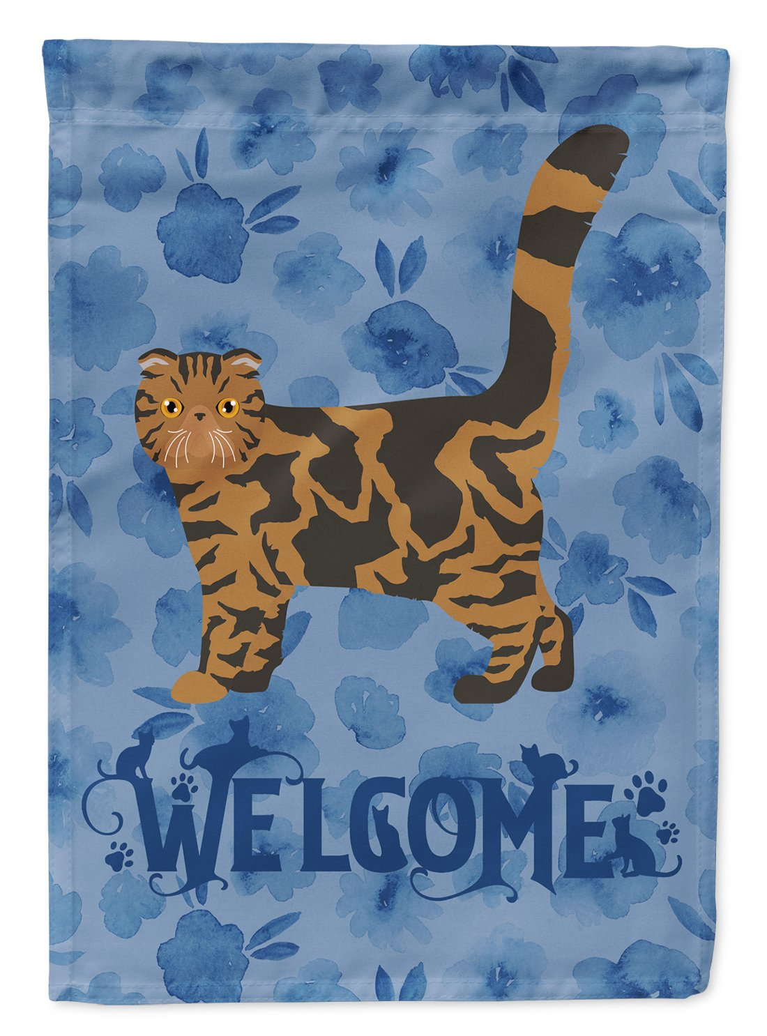 Foldex Exotic Fold #2 Cat Welcome Flag Garden Size CK4891GF by Caroline's Treasures
