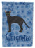 Black German Rex Cat Welcome Flag Garden Size CK4892GF by Caroline's Treasures