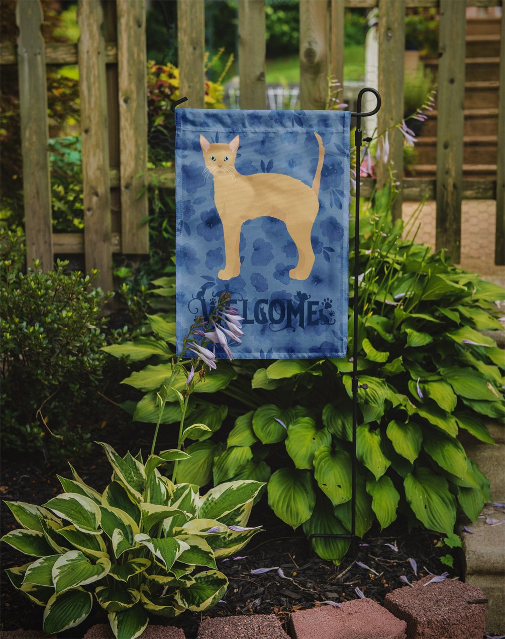 German Rex #2 Cat Welcome Flag Garden Size CK4893GF by Caroline's Treasures