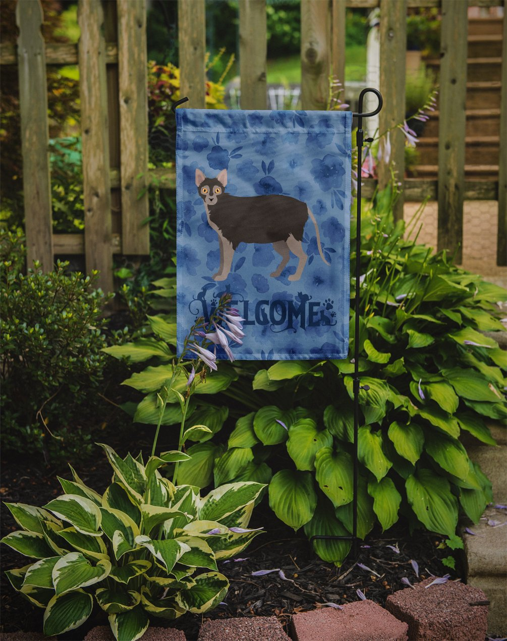 Buy this Lykoi #1 Cat Welcome Flag Garden Size CK4911GF