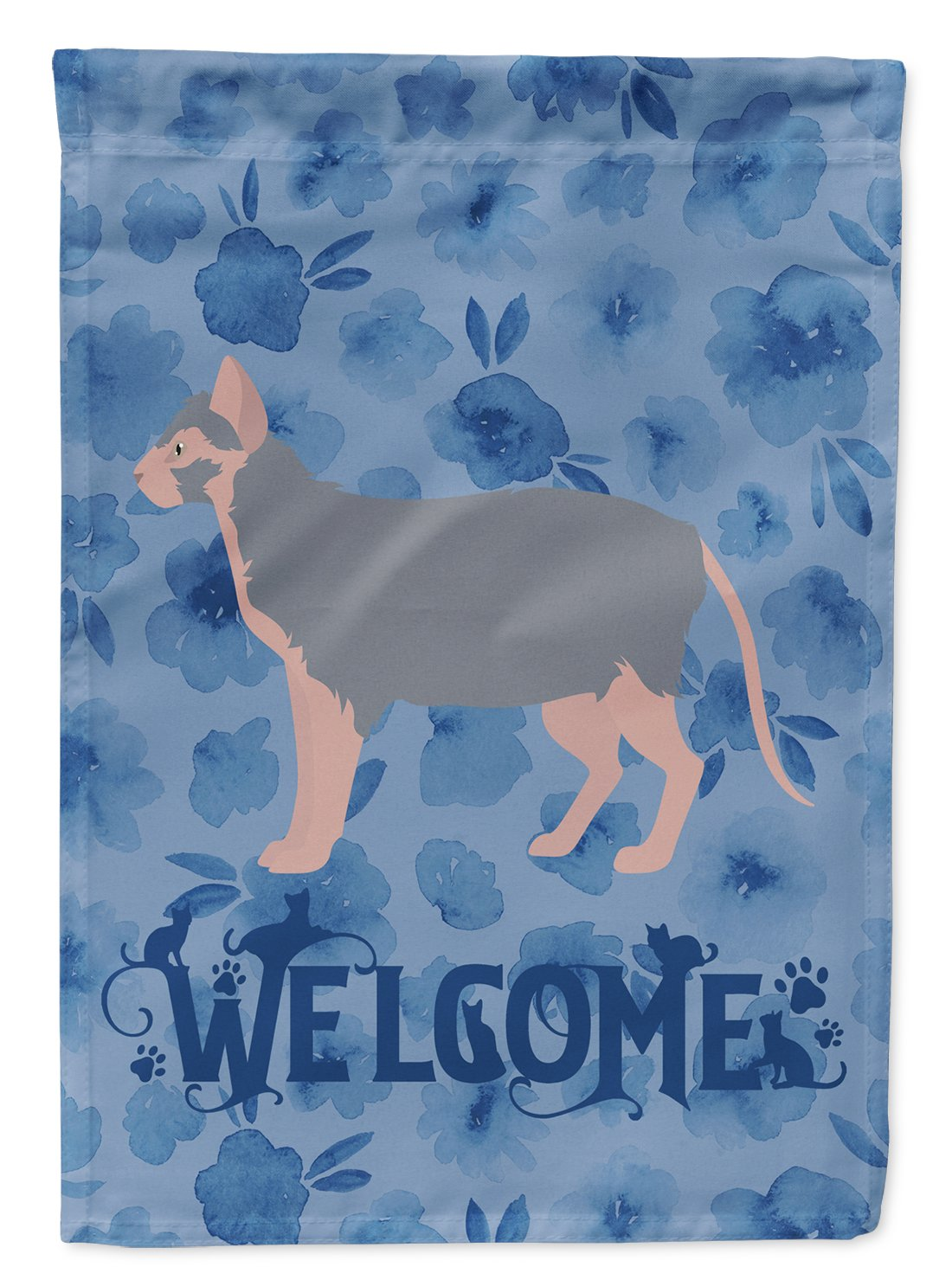 Buy this Lykoi #3 Cat Welcome Flag Garden Size CK4913GF