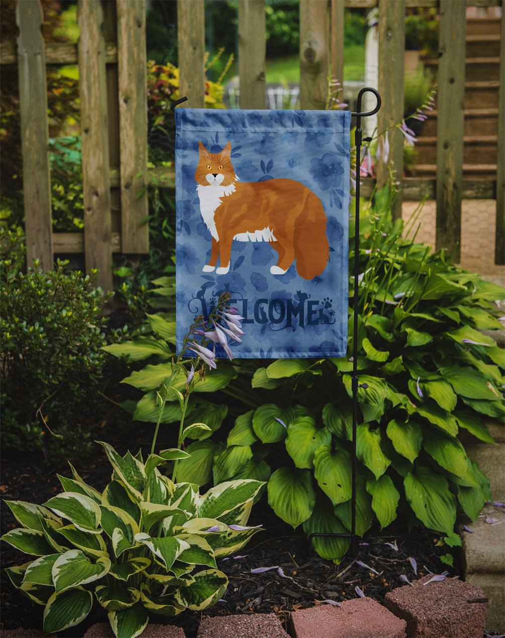 Maine Coon #1 Cat Welcome Flag Garden Size CK4914GF by Caroline's Treasures