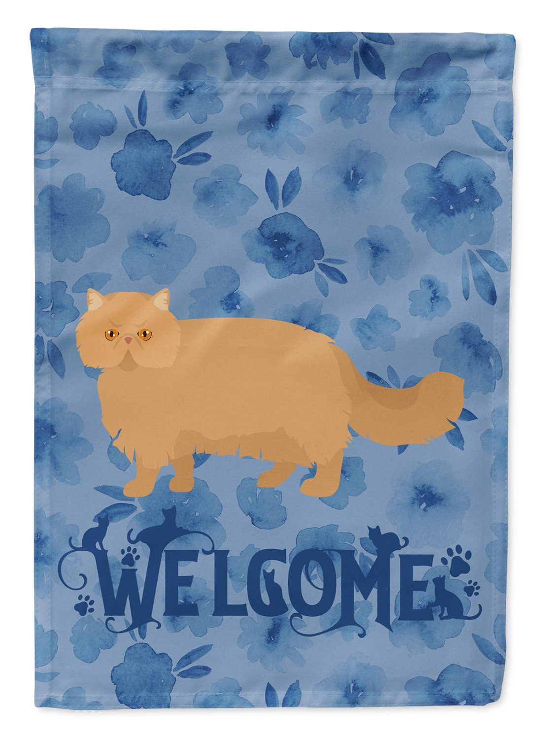 Persian Modern Cat Welcome Flag Garden Size CK4944GF by Caroline's Treasures
