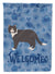 Poodle Cat #1 Cat Welcome Flag Garden Size CK4953GF by Caroline's Treasures