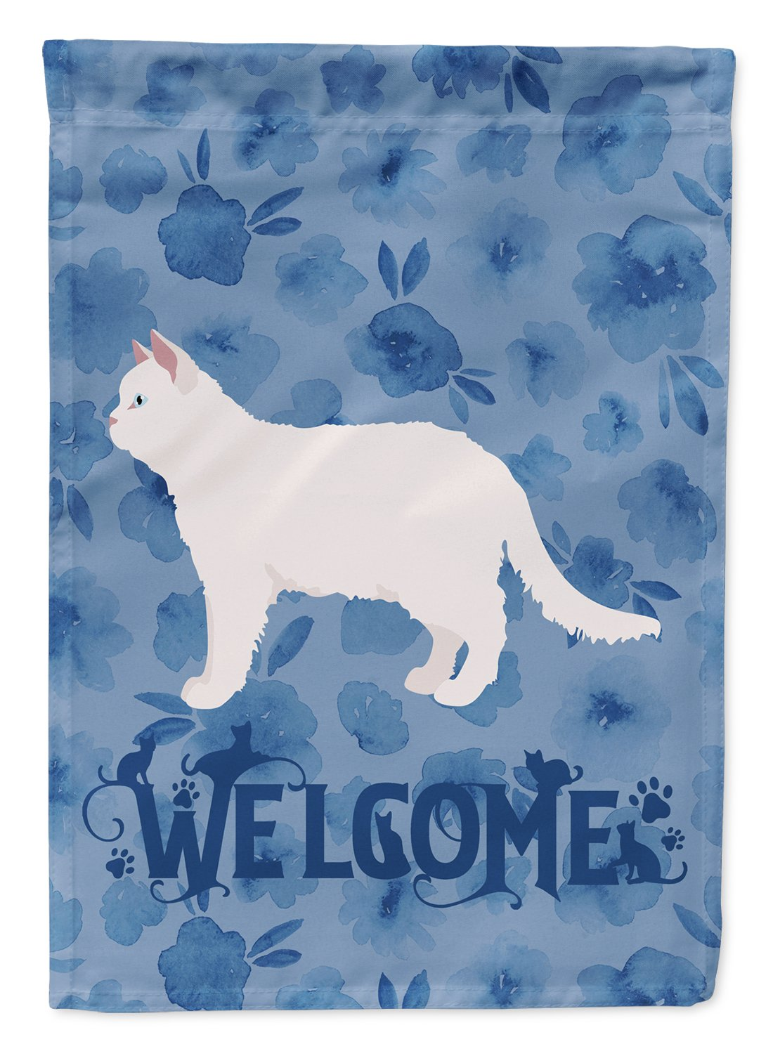 Poodle Cat #2 Cat Welcome Flag Garden Size CK4954GF by Caroline's Treasures