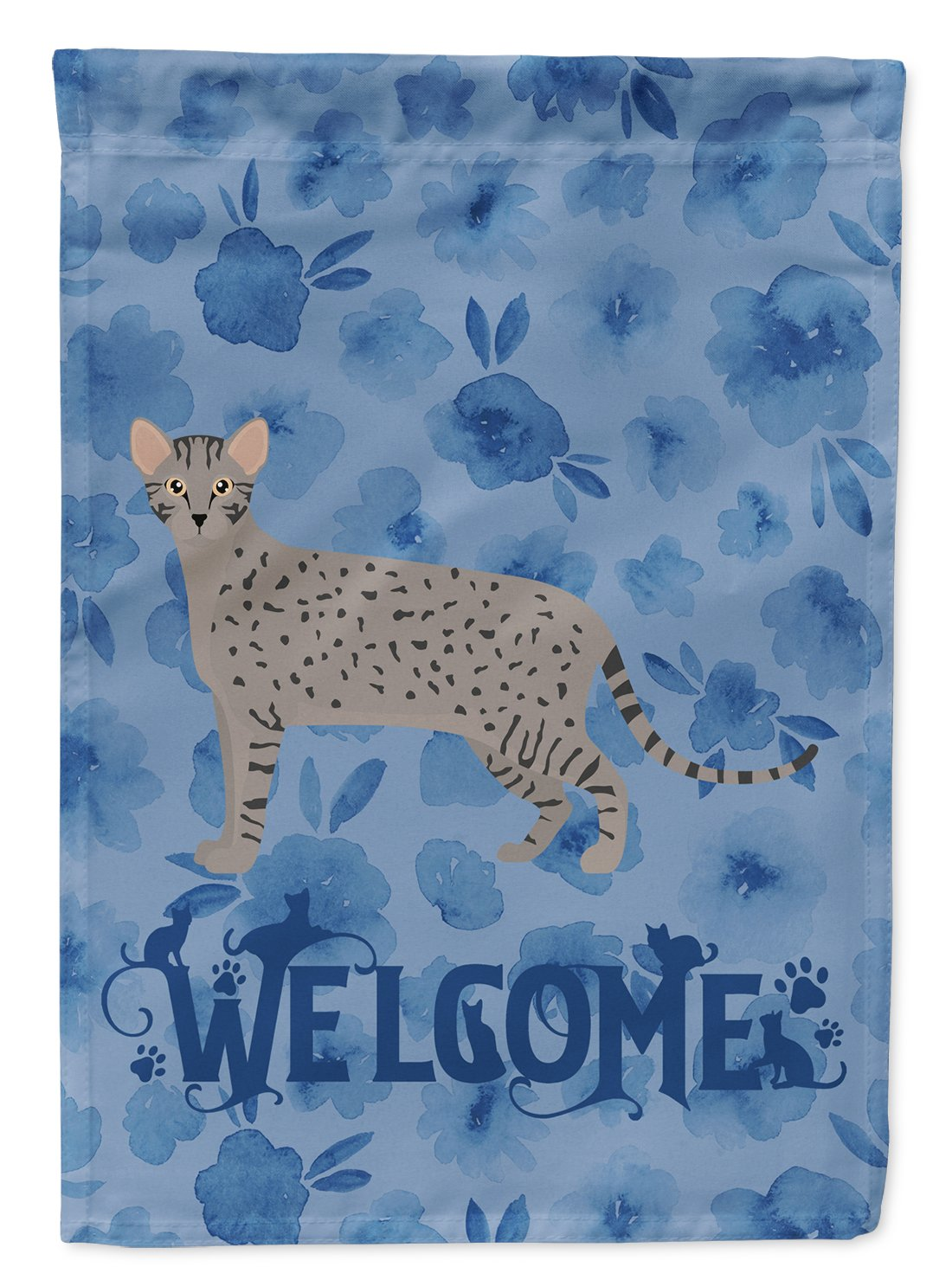 Safari #1 Cat Welcome Flag Garden Size CK4965GF by Caroline's Treasures