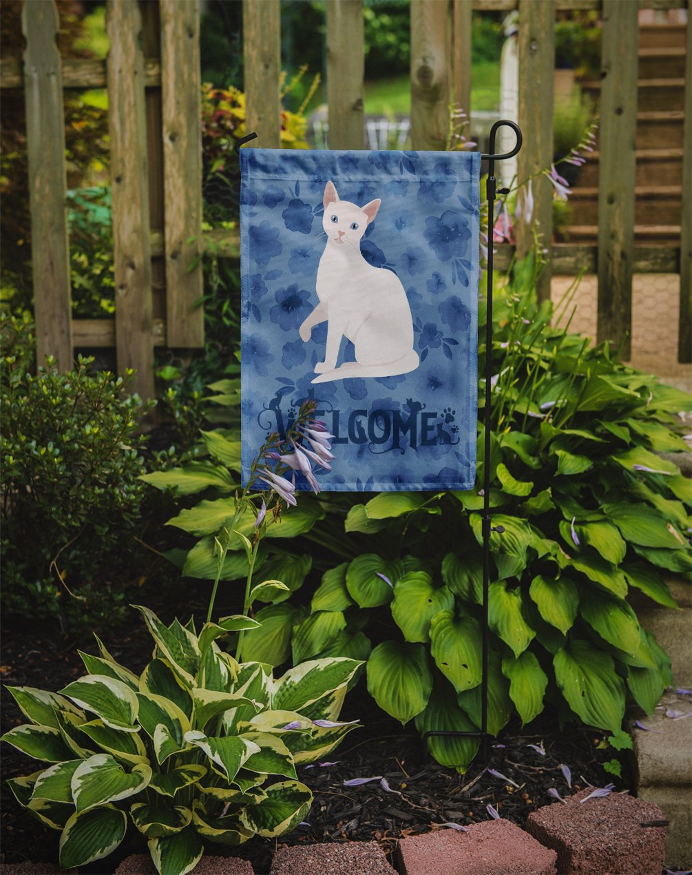 Arabian Mau Cat Welcome Flag Garden Size CK5011GF by Caroline's Treasures