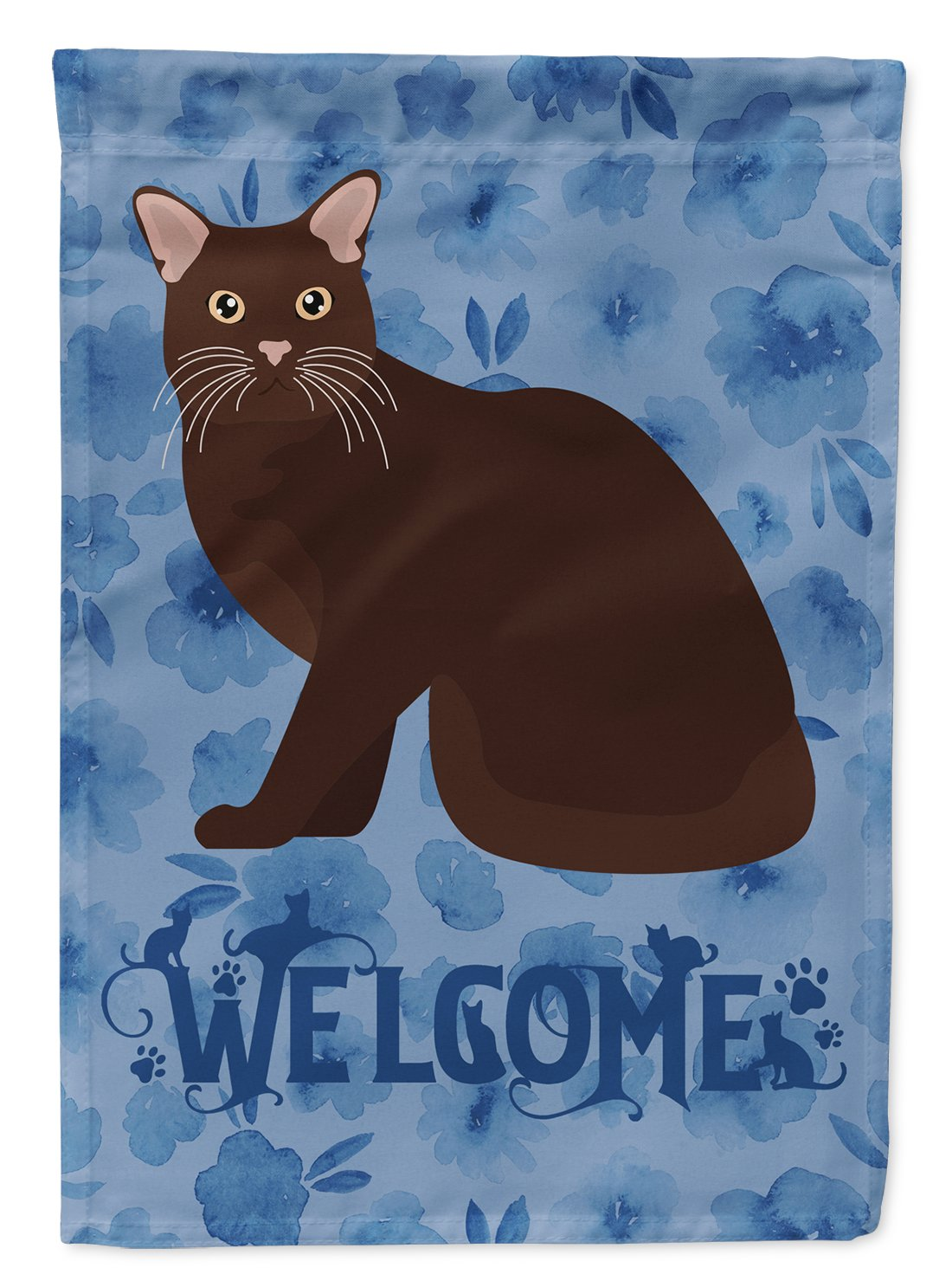 Burmese #2 Cat Welcome Flag Garden Size CK5020GF by Caroline's Treasures