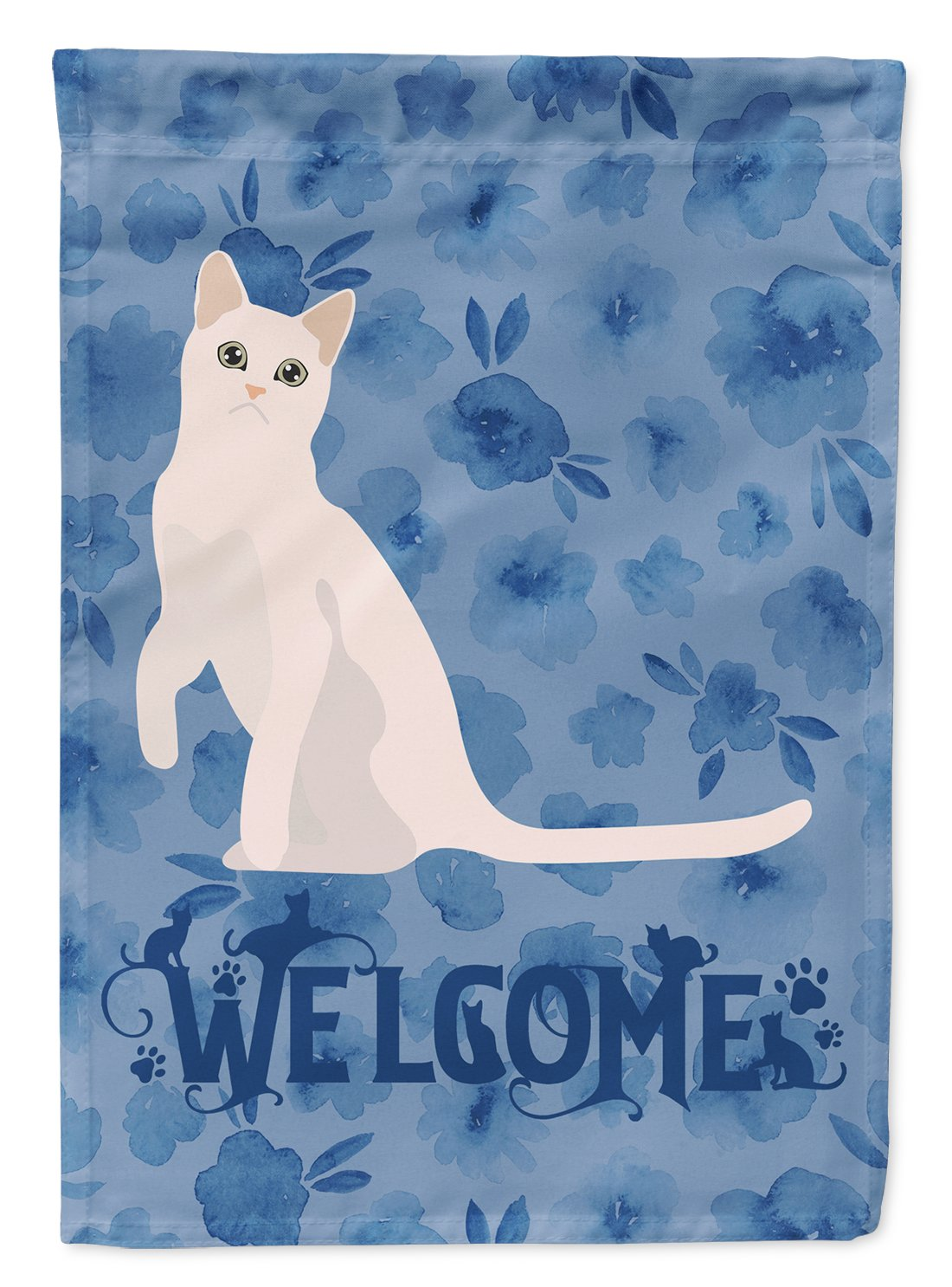 Burmilla #1 Cat Welcome Flag Garden Size CK5021GF by Caroline's Treasures