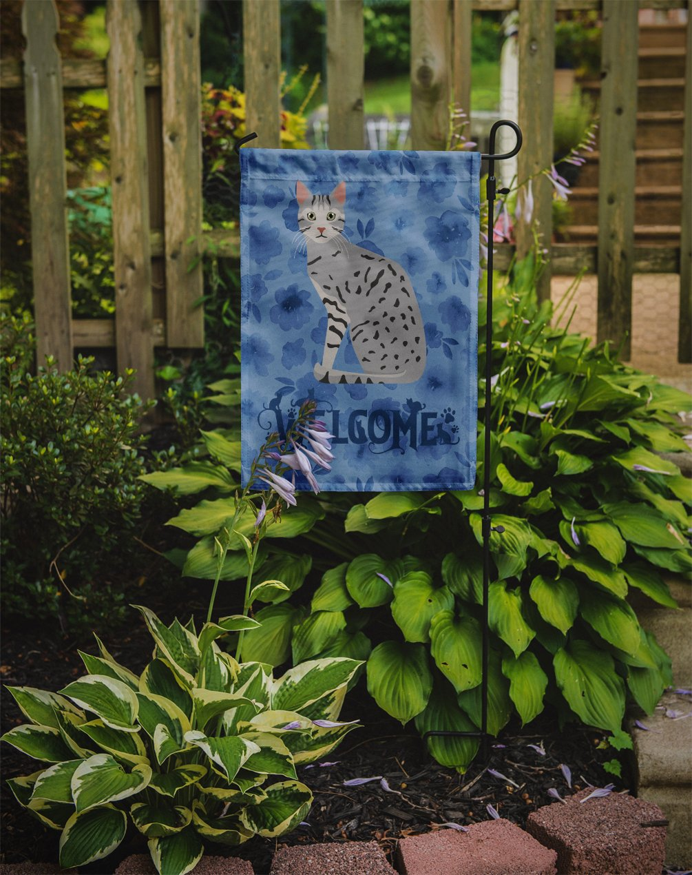 Egyptian Mau Cat Welcome Flag Garden Size CK5032GF by Caroline's Treasures