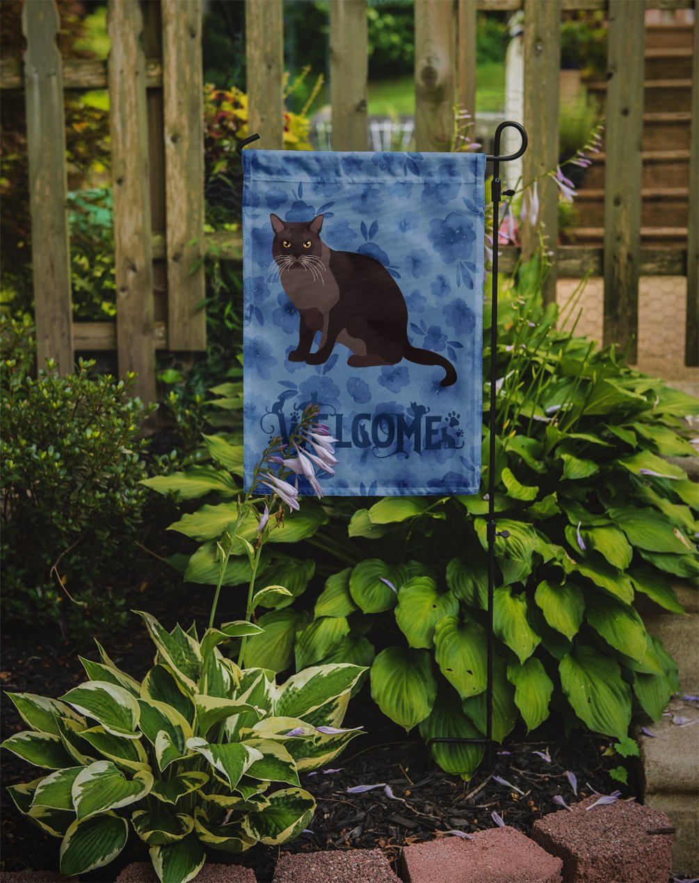 European Burmese Cat Welcome Flag Garden Size CK5033GF by Caroline's Treasures