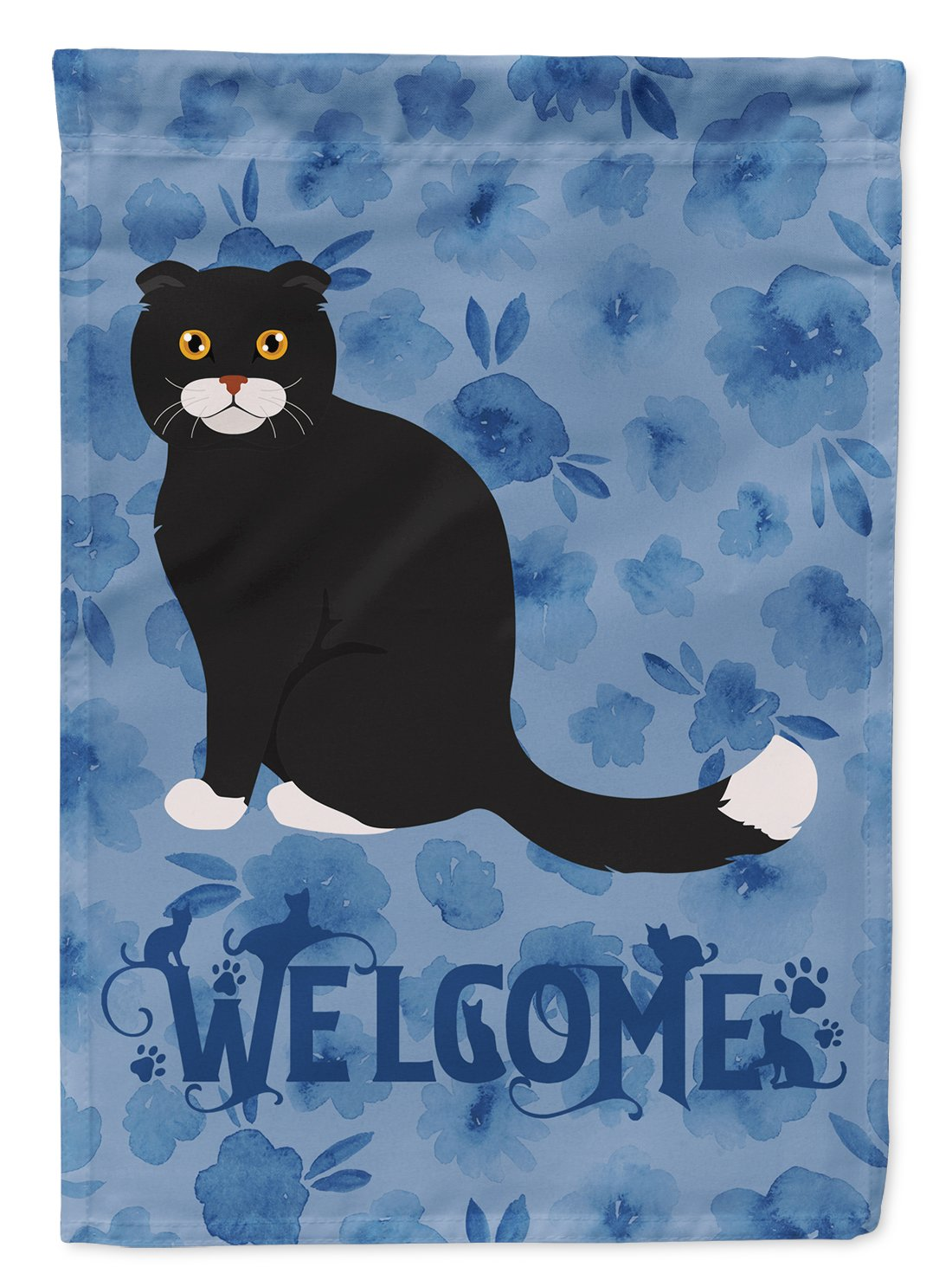 Foldex Exotic Fold #2 Cat Welcome Flag Garden Size CK5035GF by Caroline's Treasures