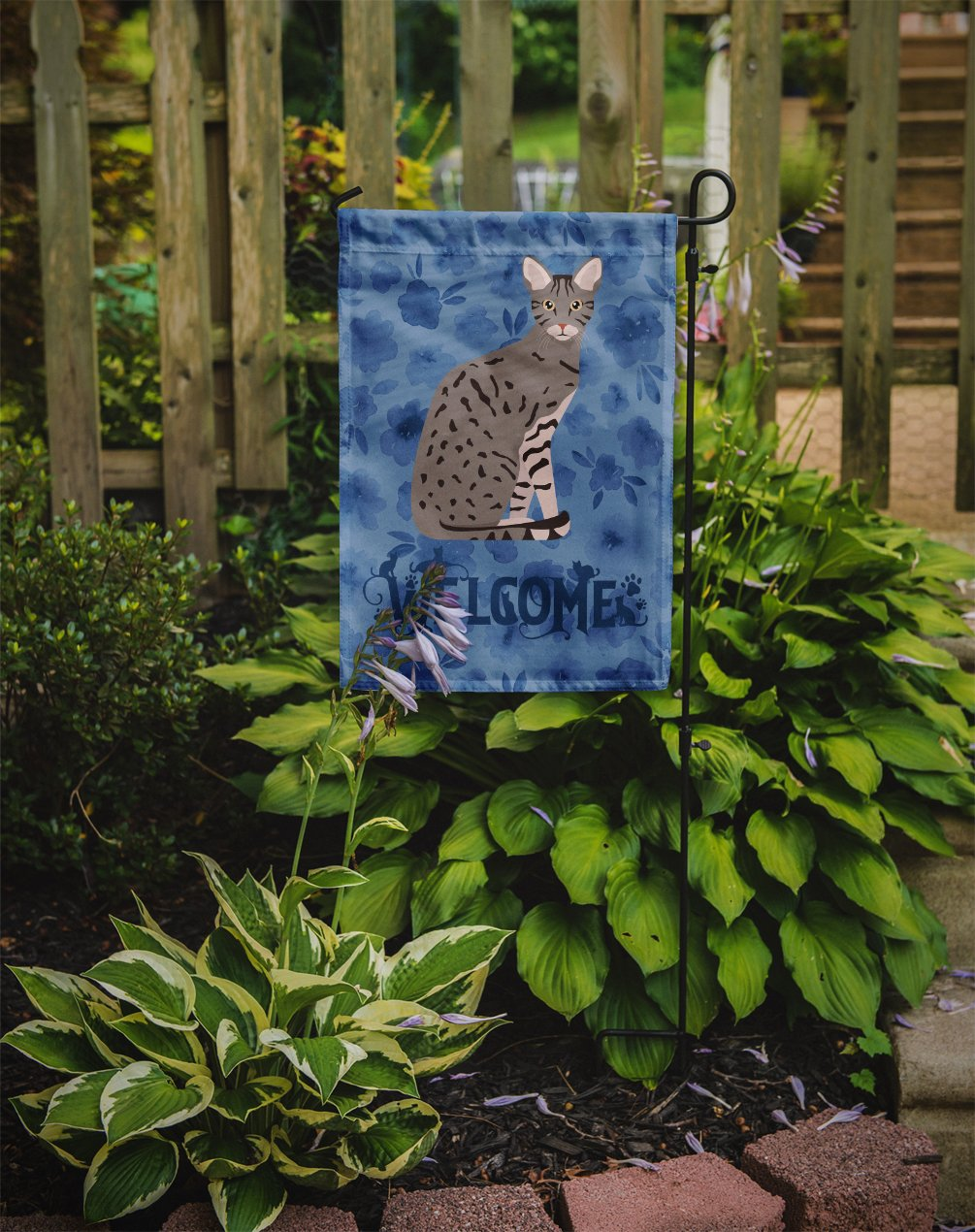 Ocicat Cat Welcome Flag Garden Size CK5045GF by Caroline's Treasures