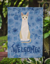 Singapura #2 Cat Welcome Flag Garden Size CK5062GF by Caroline's Treasures