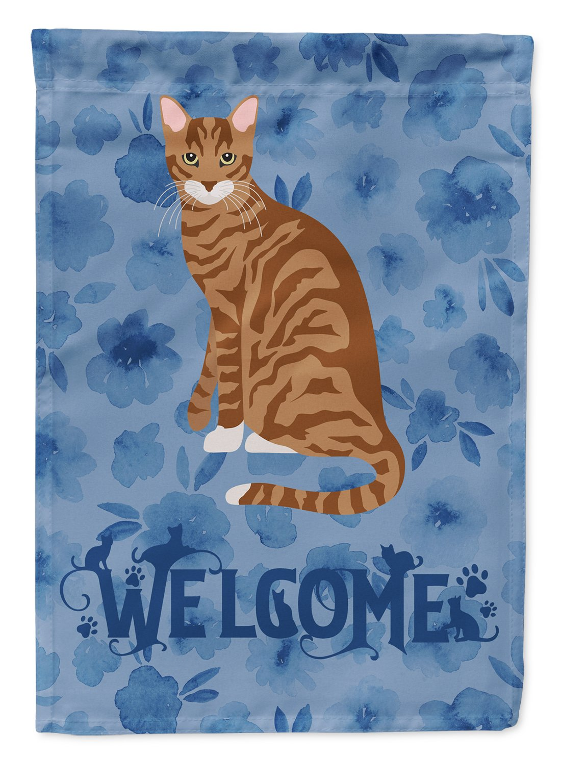 Toyger Cat Welcome Flag Garden Size CK5072GF by Caroline's Treasures