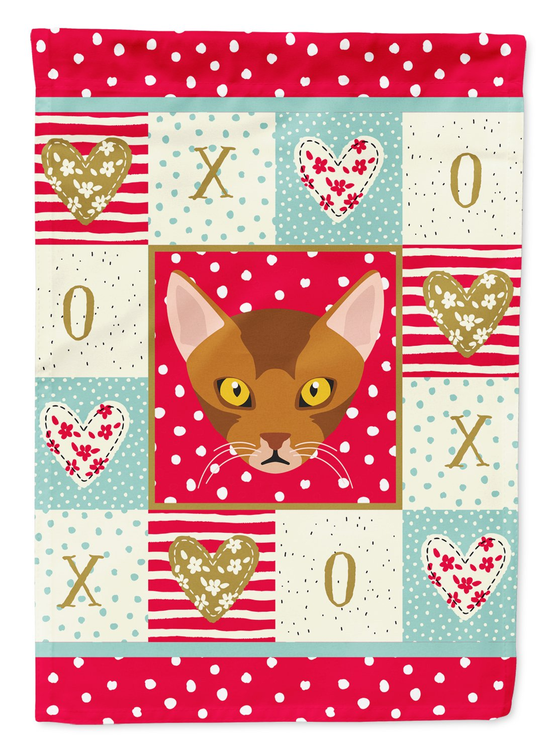 Buy this Abyssinian Cat Flag Garden Size CK5077GF