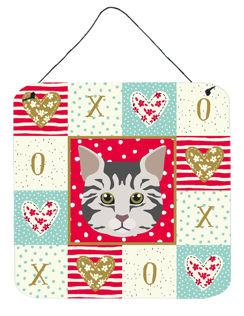 Buy this American Bobtail Cat Love Wall or Door Hanging Prints CK5079DS66