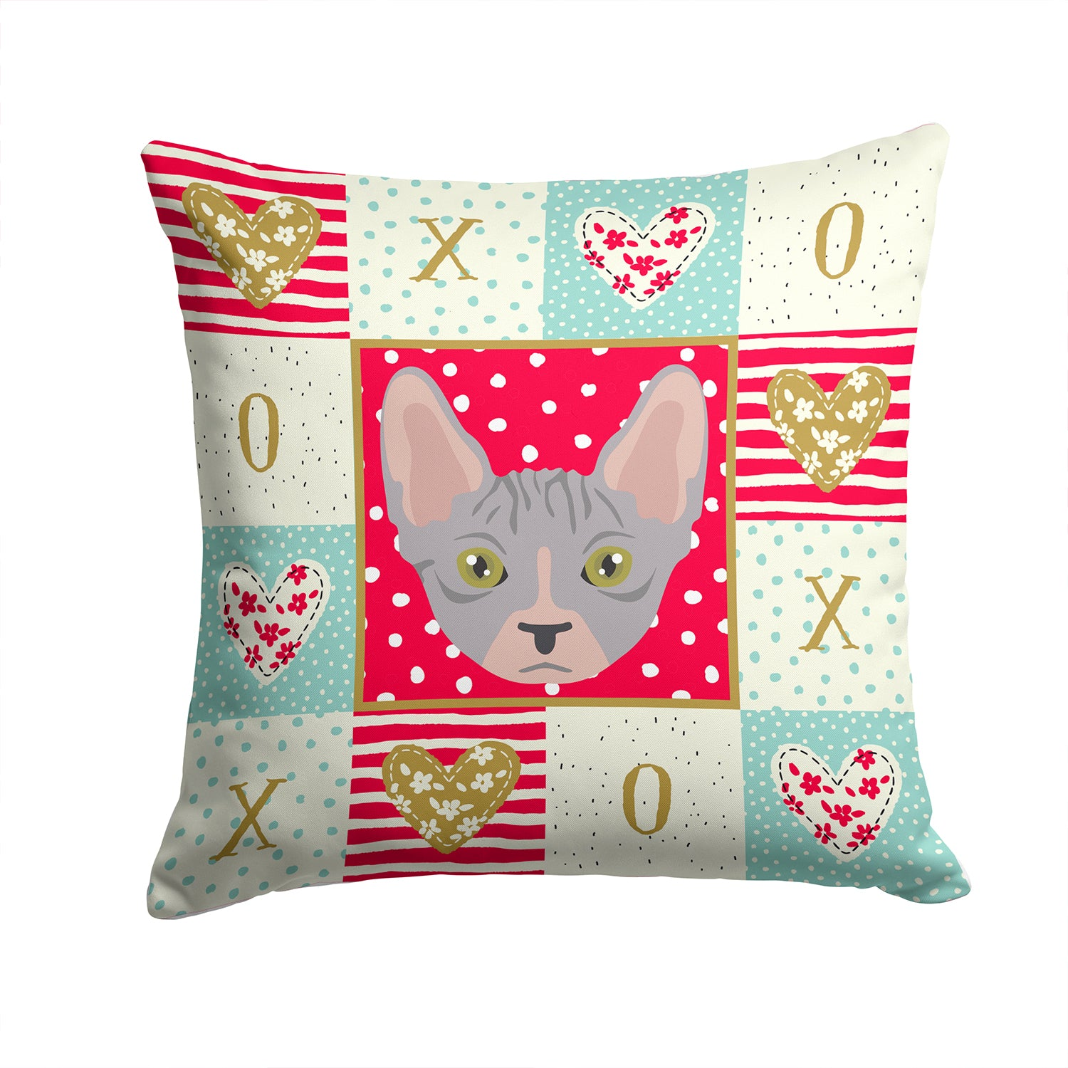 Buy this Bambino Cat Love Fabric Decorative Pillow CK5088PW1414