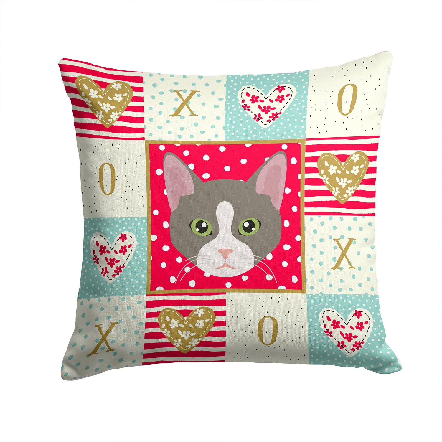 Buy this Brazilian Shorthair Cat Love Fabric Decorative Pillow CK5092PW1414