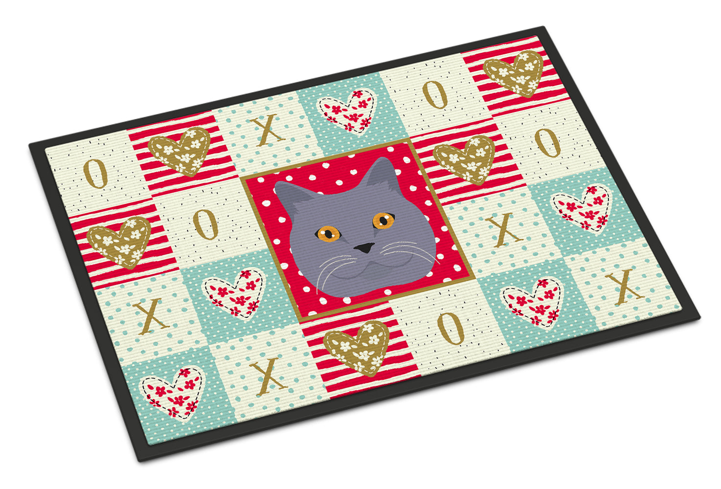 Buy this British Shorthair Cat Love Indoor or Outdoor Mat 18x27 CK5095MAT