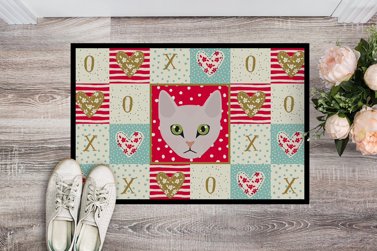 Burmilla Cat Love Indoor or Outdoor Mat 24x36 CK5097JMAT by Caroline's Treasures