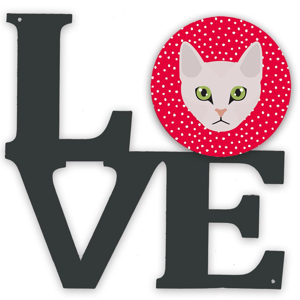 Burmilla Cat Love Metal Wall Artwork LOVE CK5097WALV by Caroline's Treasures