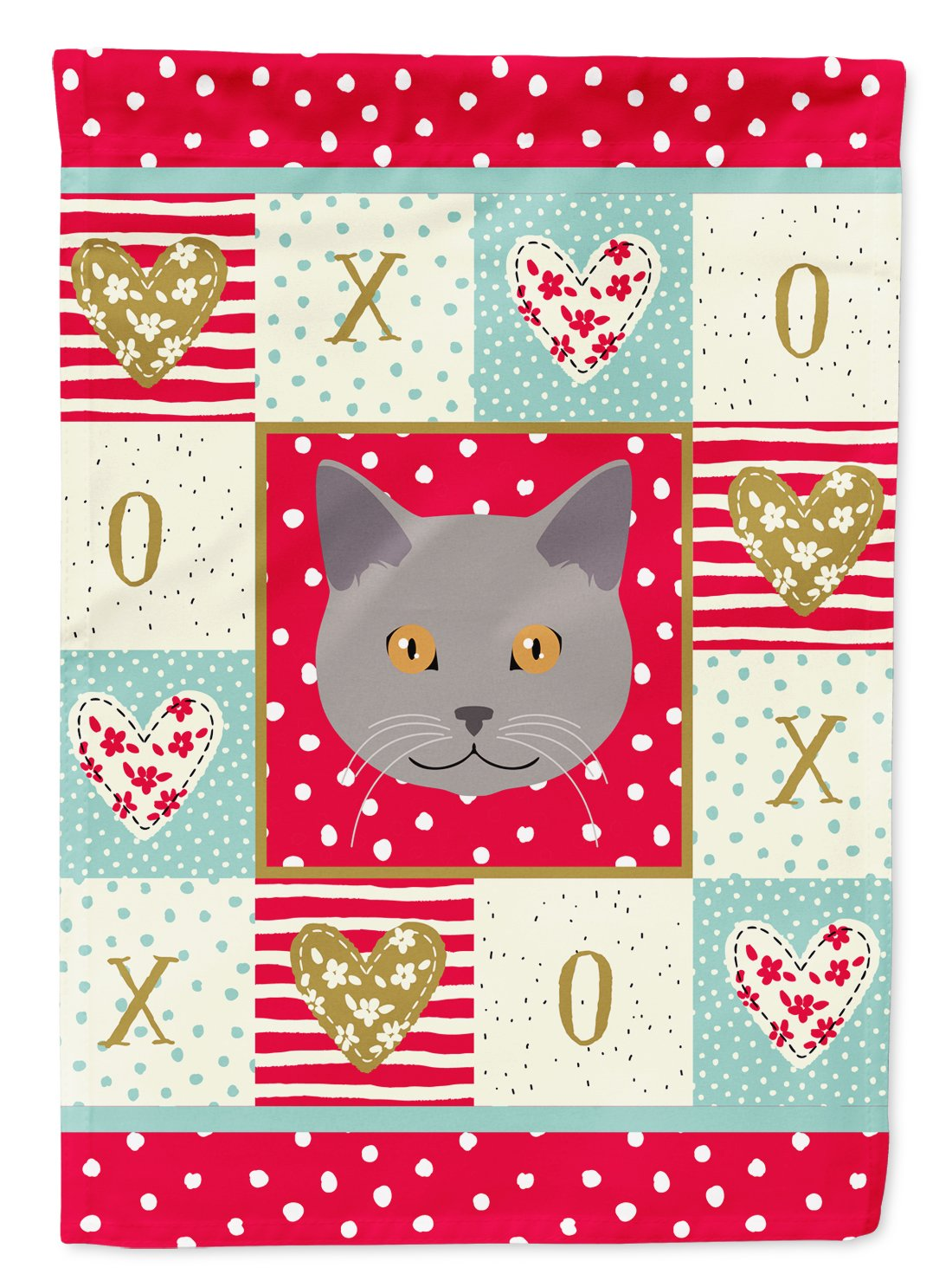 Chartreux Cat Flag Garden Size CK5100GF by Caroline's Treasures
