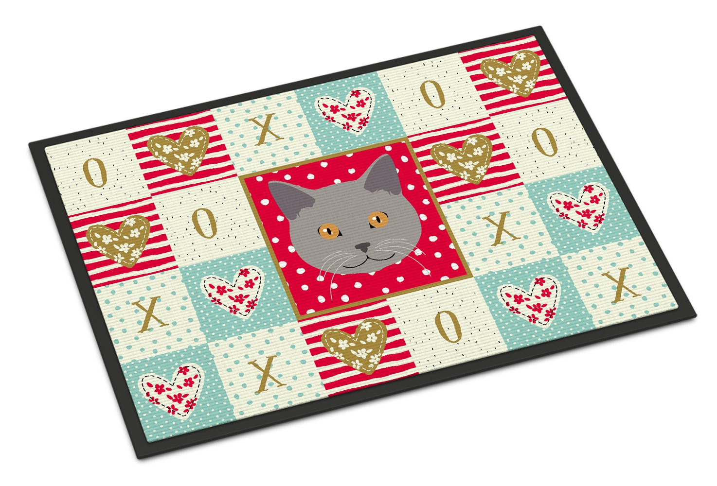 Chartreux Cat Love Indoor or Outdoor Mat 24x36 CK5100JMAT by Caroline's Treasures