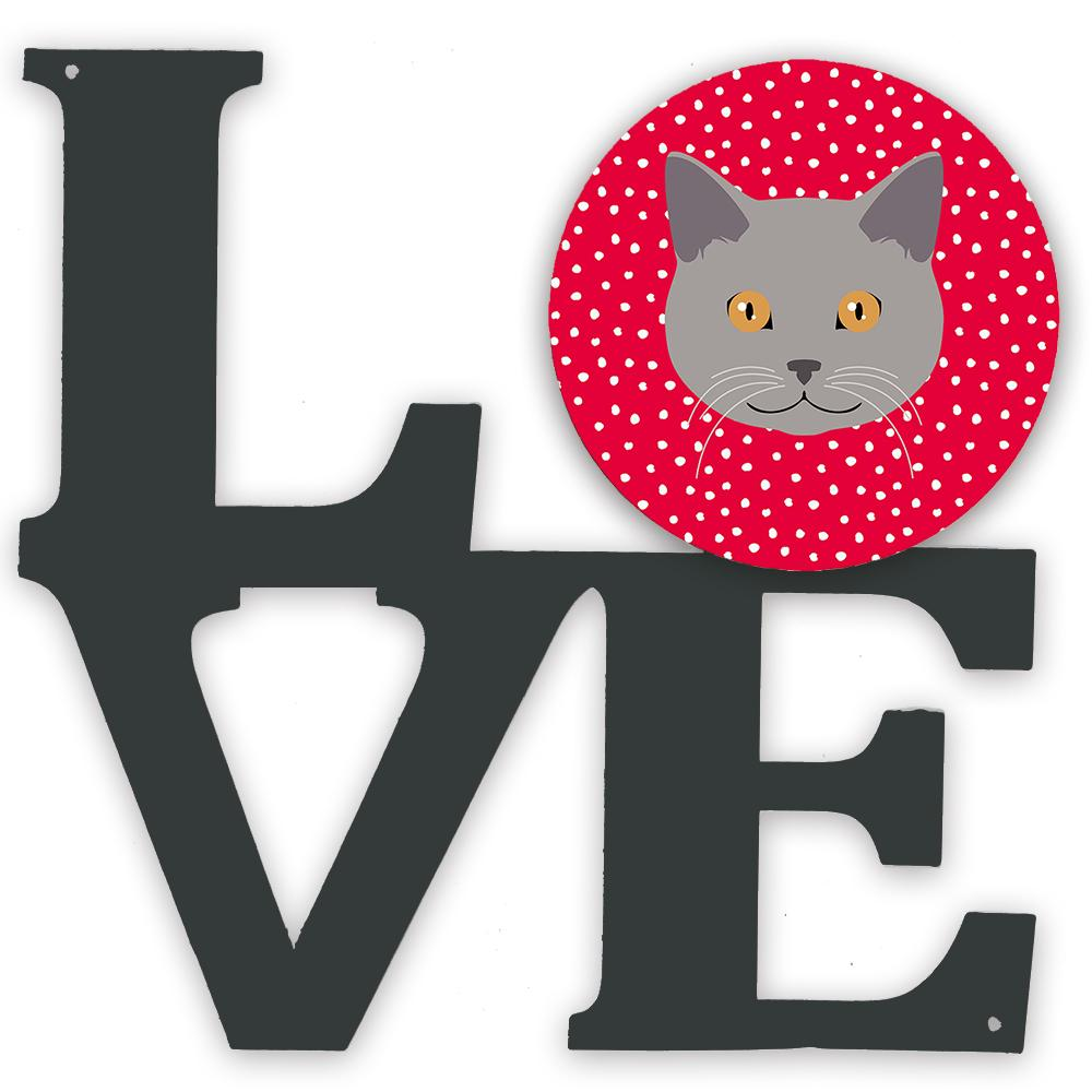 Chartreux Cat Love Metal Wall Artwork LOVE CK5100WALV by Caroline's Treasures
