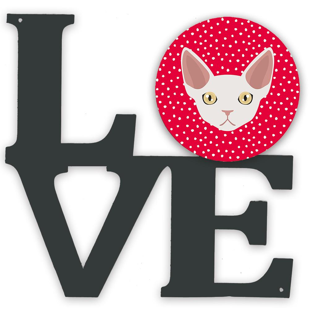 Buy this Devon Rex Cat Love Metal Wall Artwork LOVE CK5110WALV
