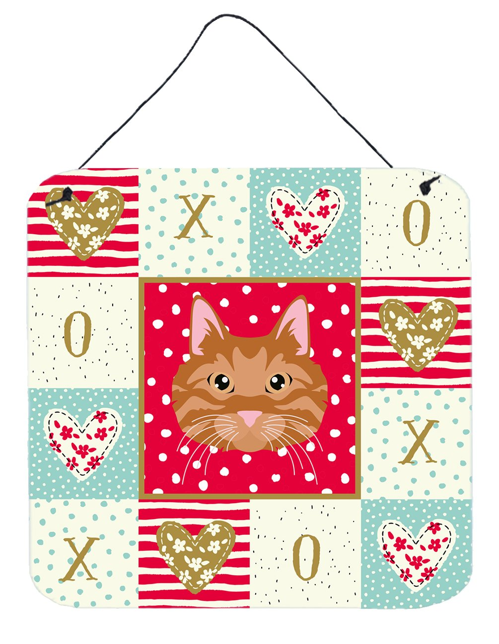 Buy this Kurilian Bobtail Cat Love Wall or Door Hanging Prints CK5126DS66