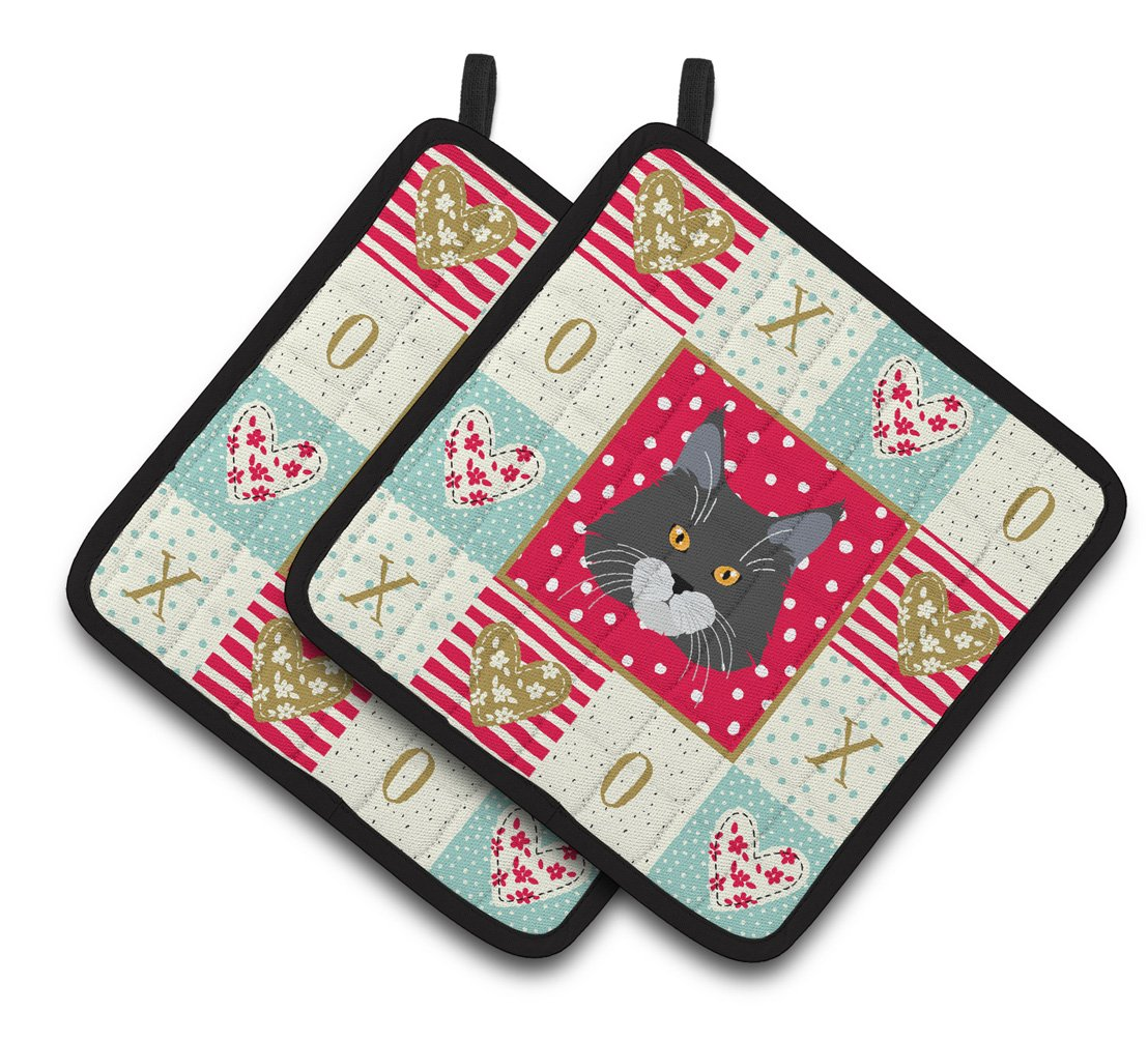 Maine Coon Cat Love Pair of Pot Holders CK5129PTHD by Caroline's Treasures