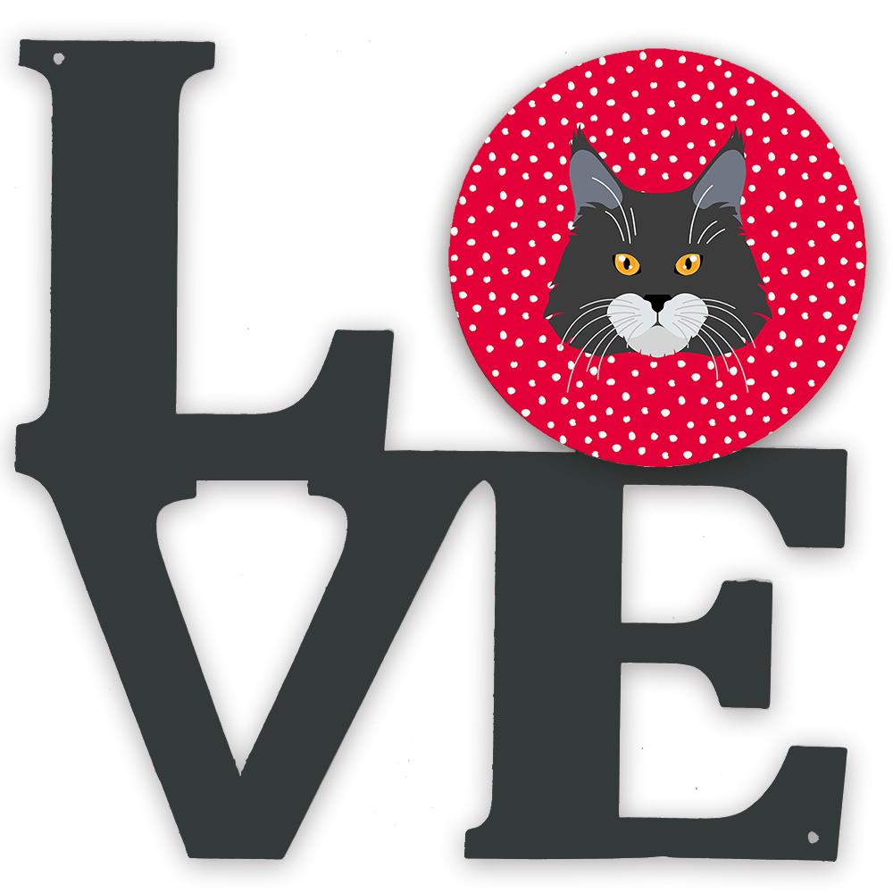 Maine Coon Cat Love Metal Wall Artwork LOVE CK5129WALV by Caroline's Treasures