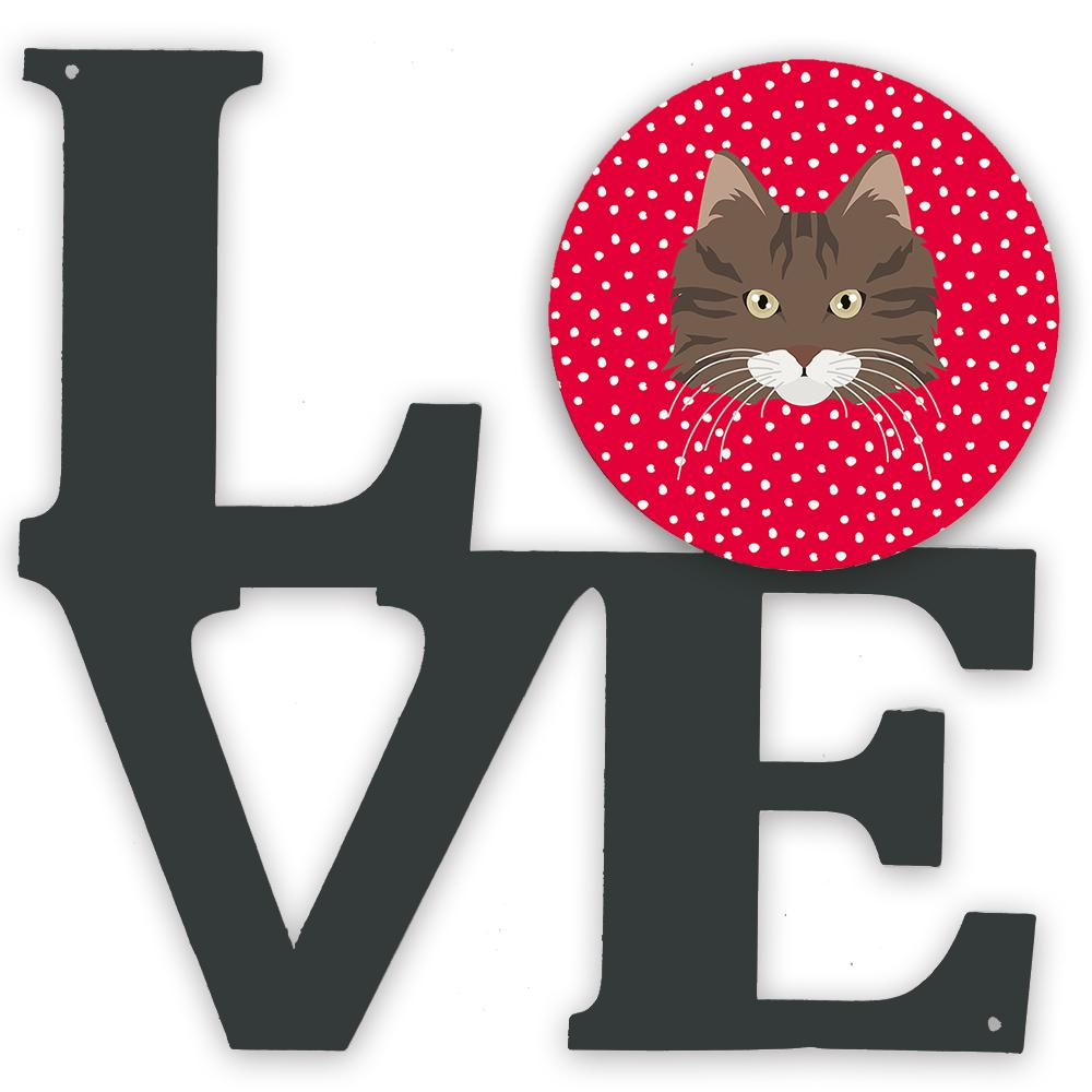 Norwegian Forest Cat Love Metal Wall Artwork LOVE CK5137WALV by Caroline's Treasures