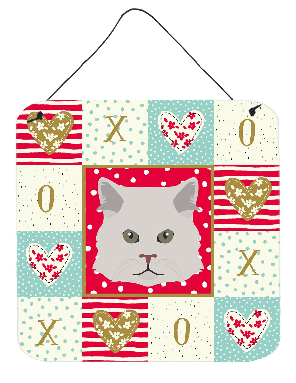 Persian Traditional Cat Love Wall or Door Hanging Prints CK5147DS66 by Caroline's Treasures