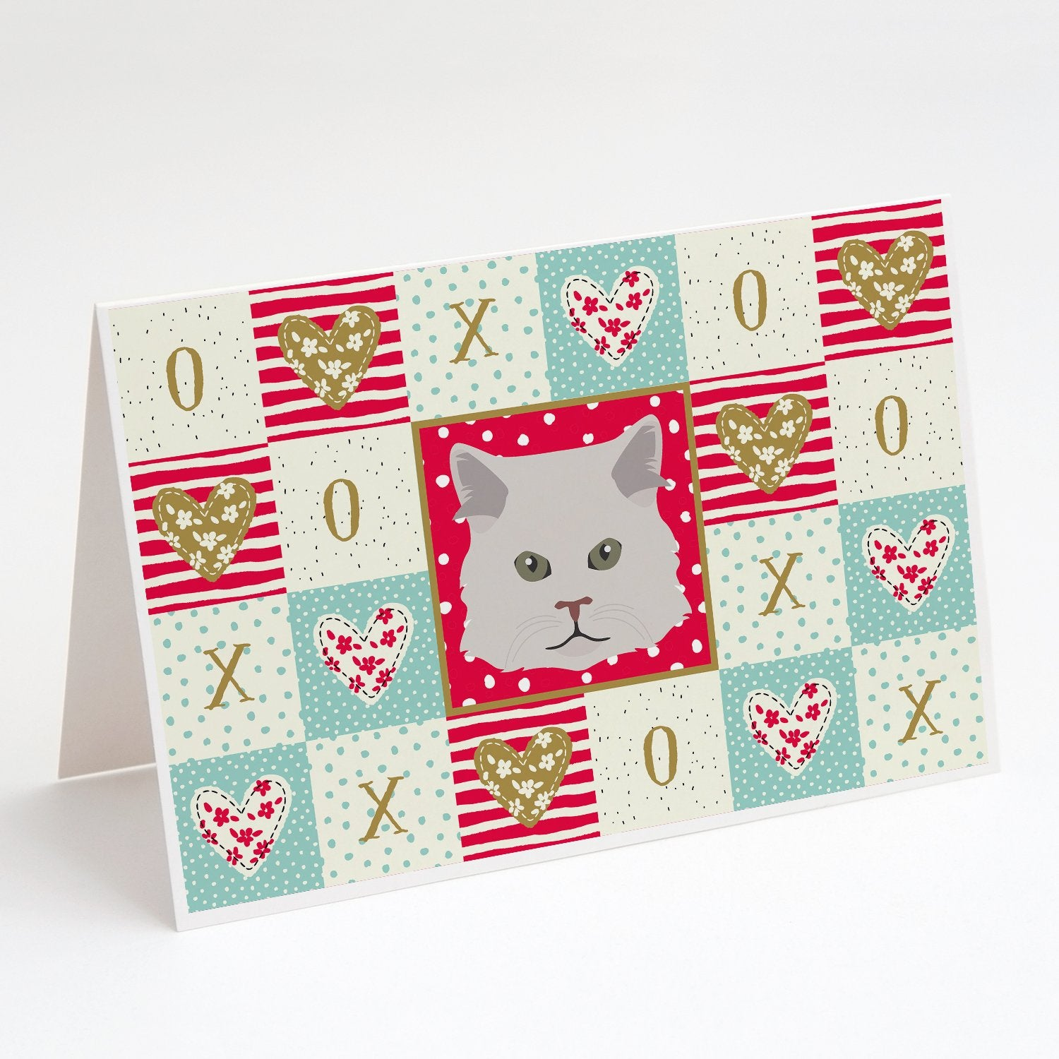 Buy this Persian Traditional Cat Love Greeting Cards and Envelopes Pack of 8