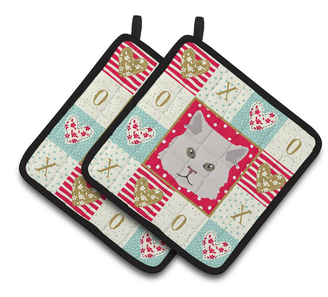 Persian Traditional Cat Love Pair of Pot Holders CK5147PTHD by Caroline's Treasures
