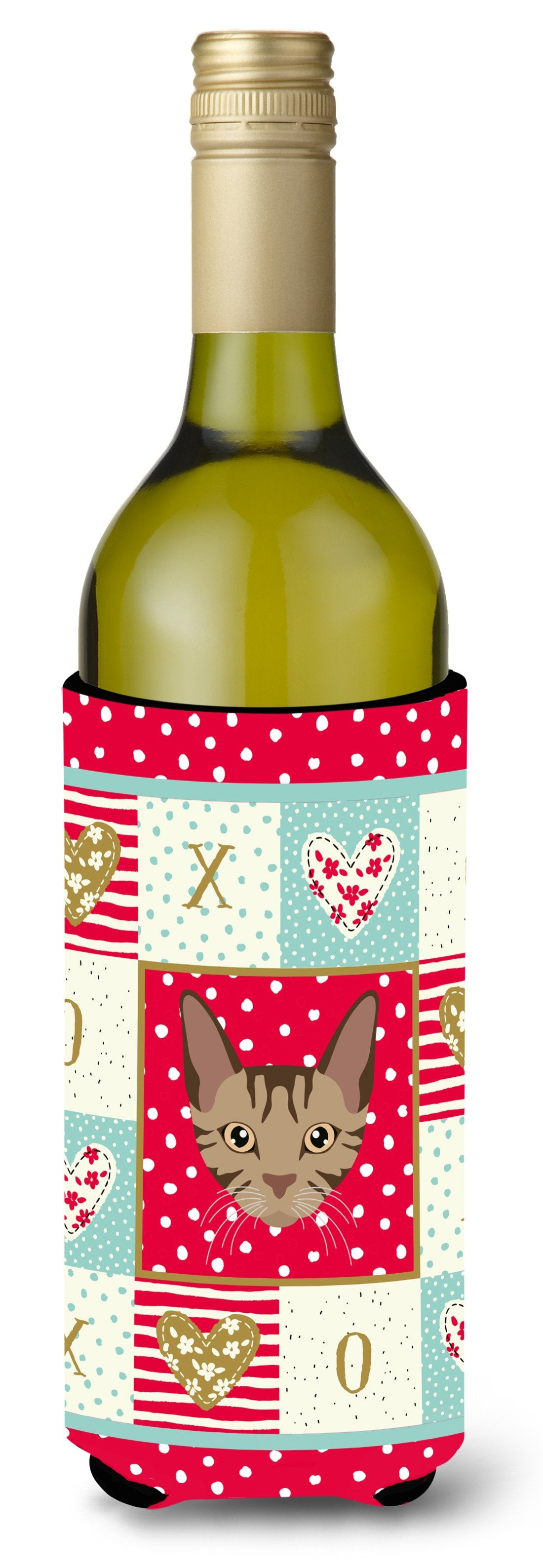 Sokoke Cat Wine Bottle Beverage Insulator Hugger CK5168LITERK by Caroline's Treasures
