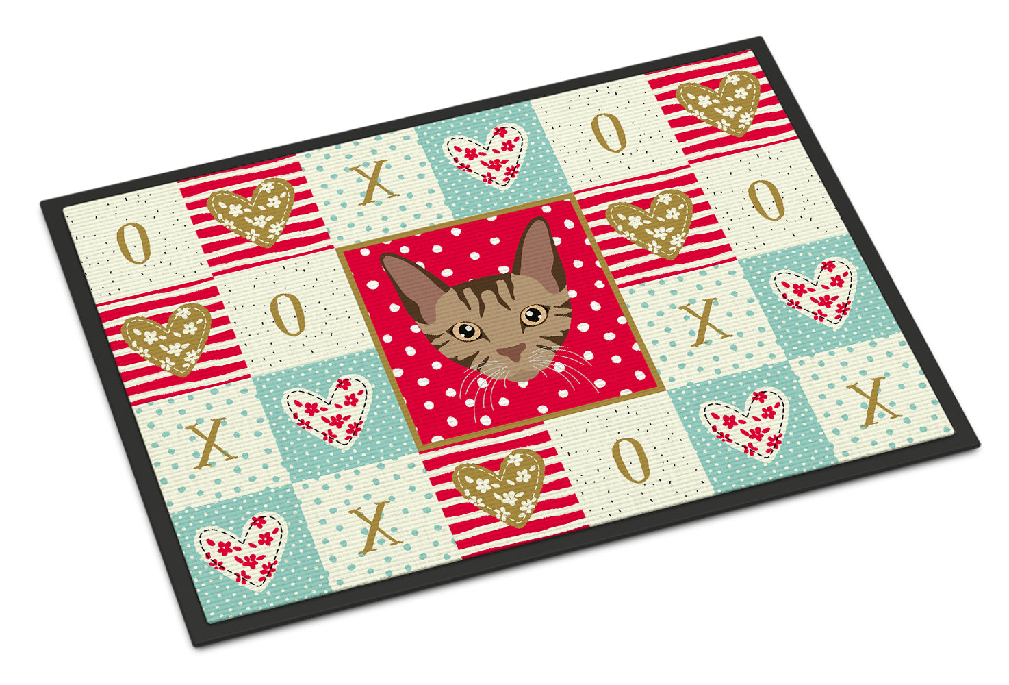 Sokoke Cat Love Indoor or Outdoor Mat 18x27 CK5168MAT by Caroline's Treasures
