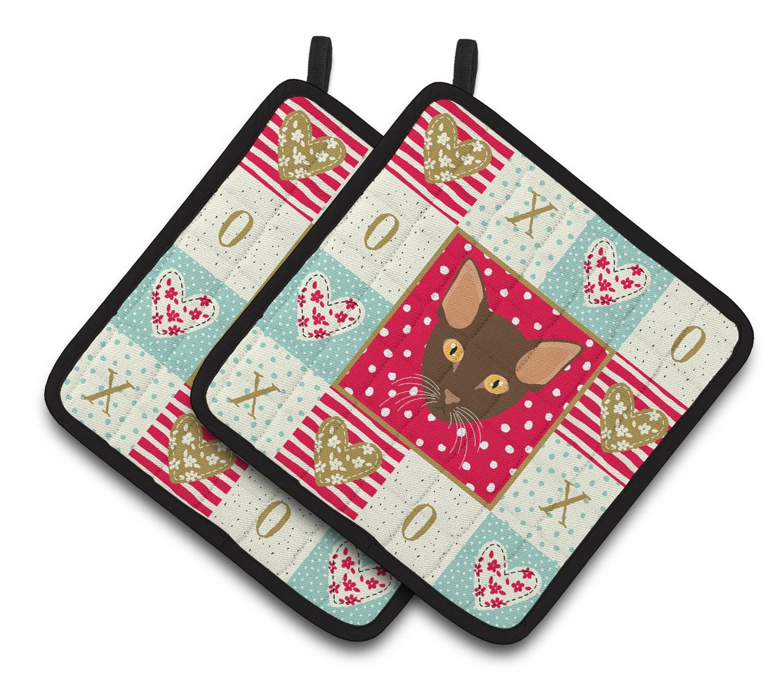 Buy this Suphalak Cat Love Pair of Pot Holders CK5171PTHD