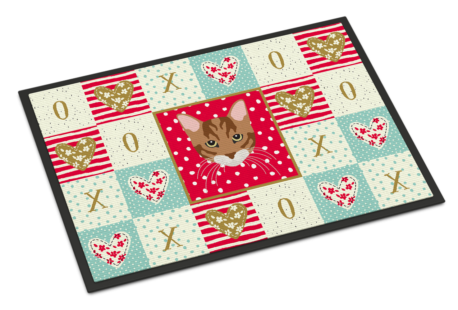 Buy this Toyger Cat Love Indoor or Outdoor Mat 18x27 CK5174MAT