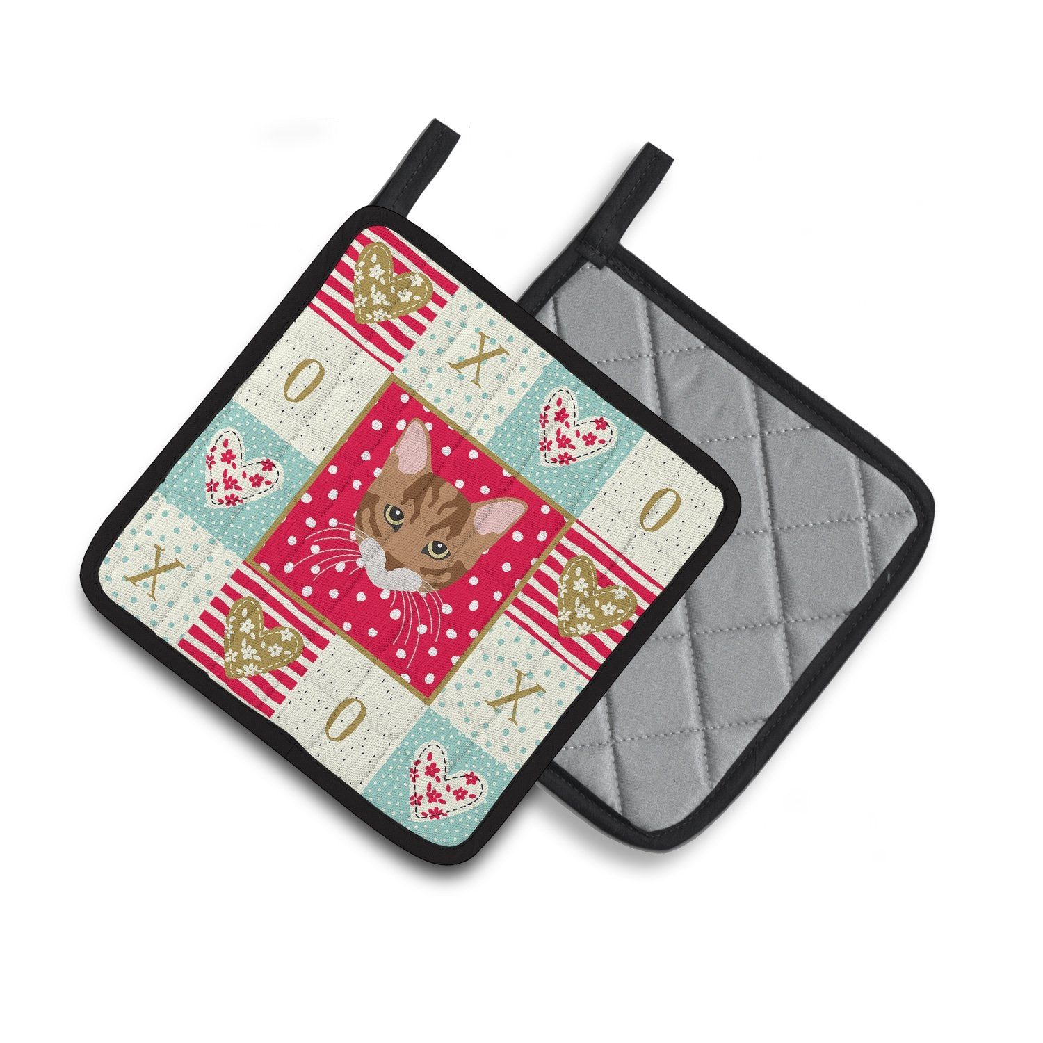 Buy this Toyger Cat Love Pair of Pot Holders CK5174PTHD