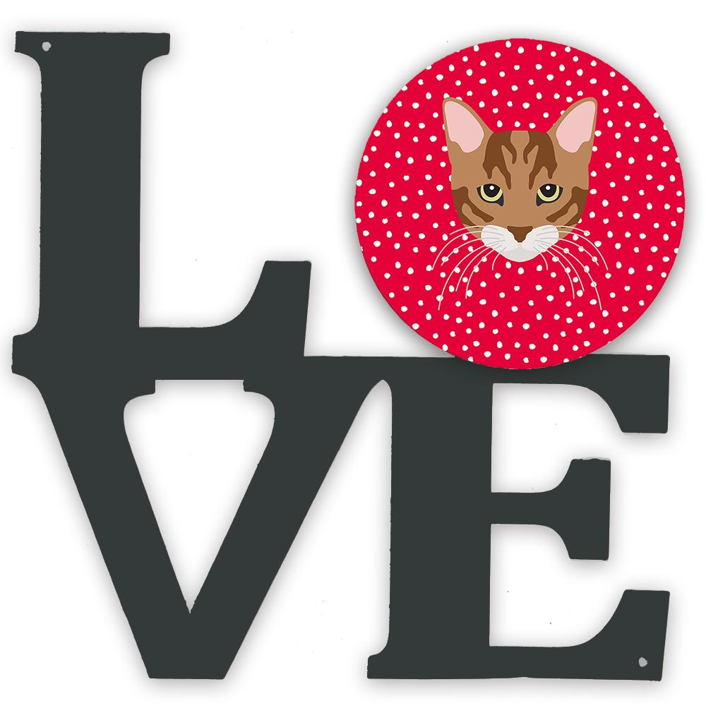 Toyger Cat Love Metal Wall Artwork LOVE CK5174WALV by Caroline's Treasures
