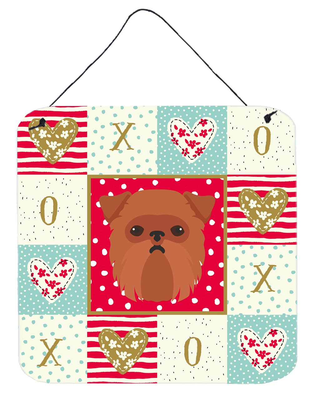 Brussels Griffon Love Wall or Door Hanging Prints CK5188DS66 by Caroline's Treasures